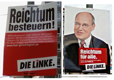 Wahlplakate der Linkspartei